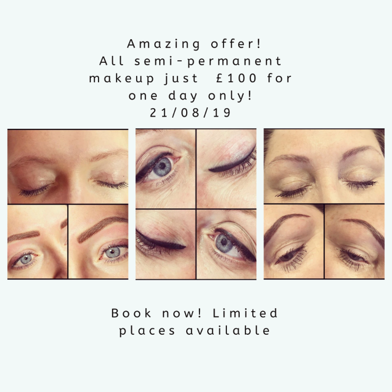 semi permanent makeup offer | wirral chiropractor